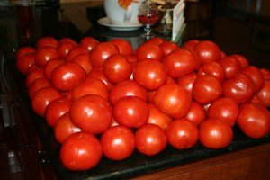 Canning ~ Home Grown Tomatoes