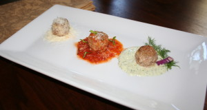 Meatball Trio….beef, pork, bison, lamb, veal and sauces