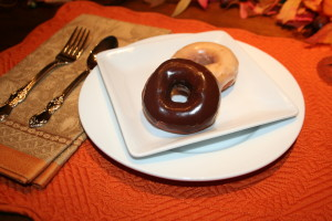Homemade Doughnuts….chocolate glazed, plain glazed and powdered sugar