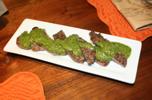 Beef Tenderloin with Green Sauce
