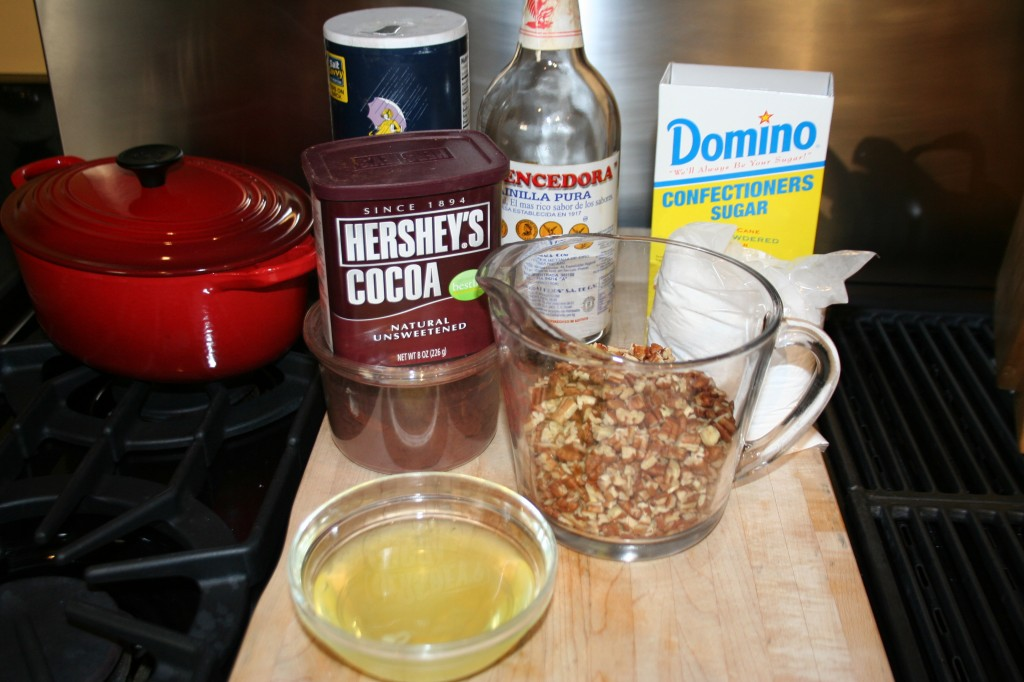 Ingredients for Chocolate Chewies