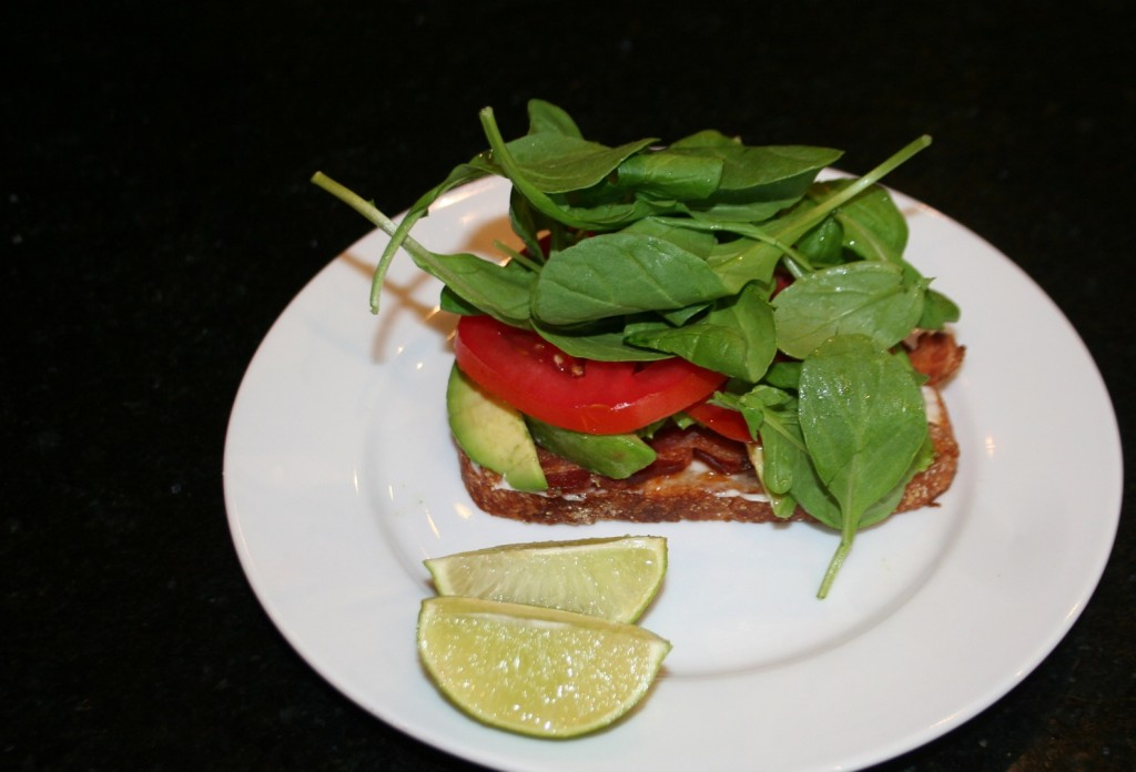 arugula on your avocado ~ BLT with Lime