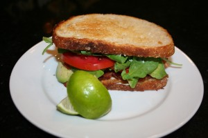 Avocado ~ BLT Sandwich with a squeeze of lime