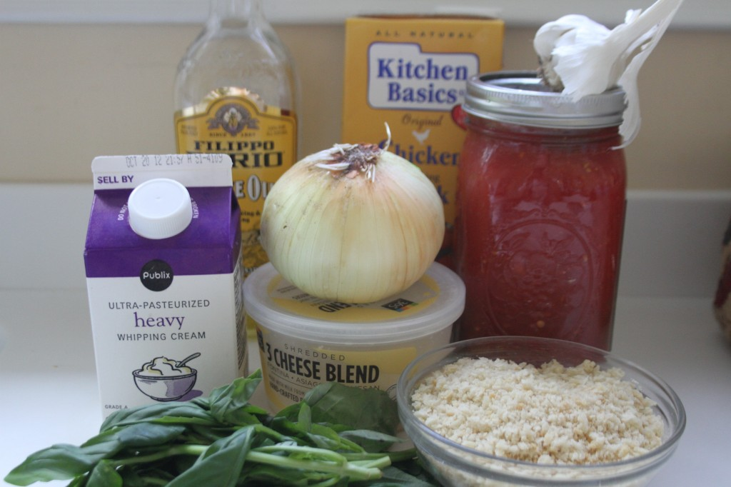 ingredients for tomato basil soup