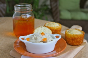 Easy Chicken and Dumpling with Cornbread
