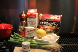 ingredients for creamed spinach