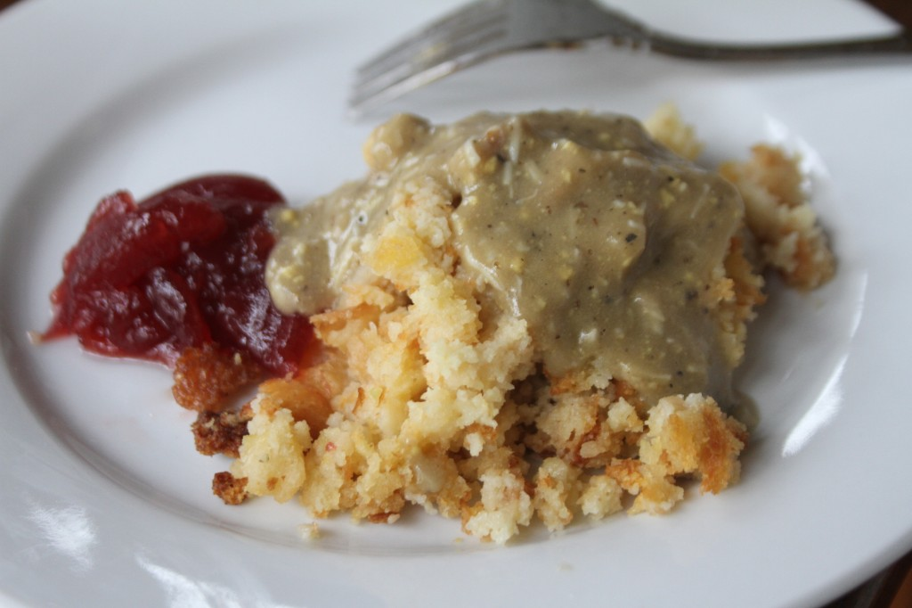cornbread dressing with gravy