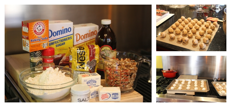 ingredients for sweet dream cookies ~ roll in 1 inch balls ~ cover in powder sugar