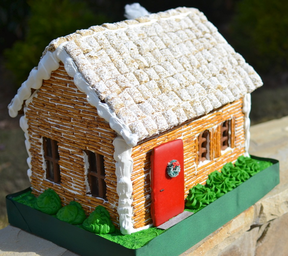 How to build a christmas ginger bread log cabin house recipe log cabin gingerbread house maxwellsz