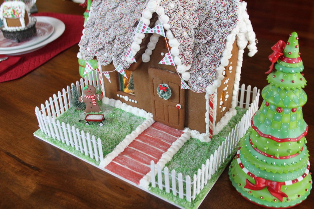 Side View of Gingerbread House