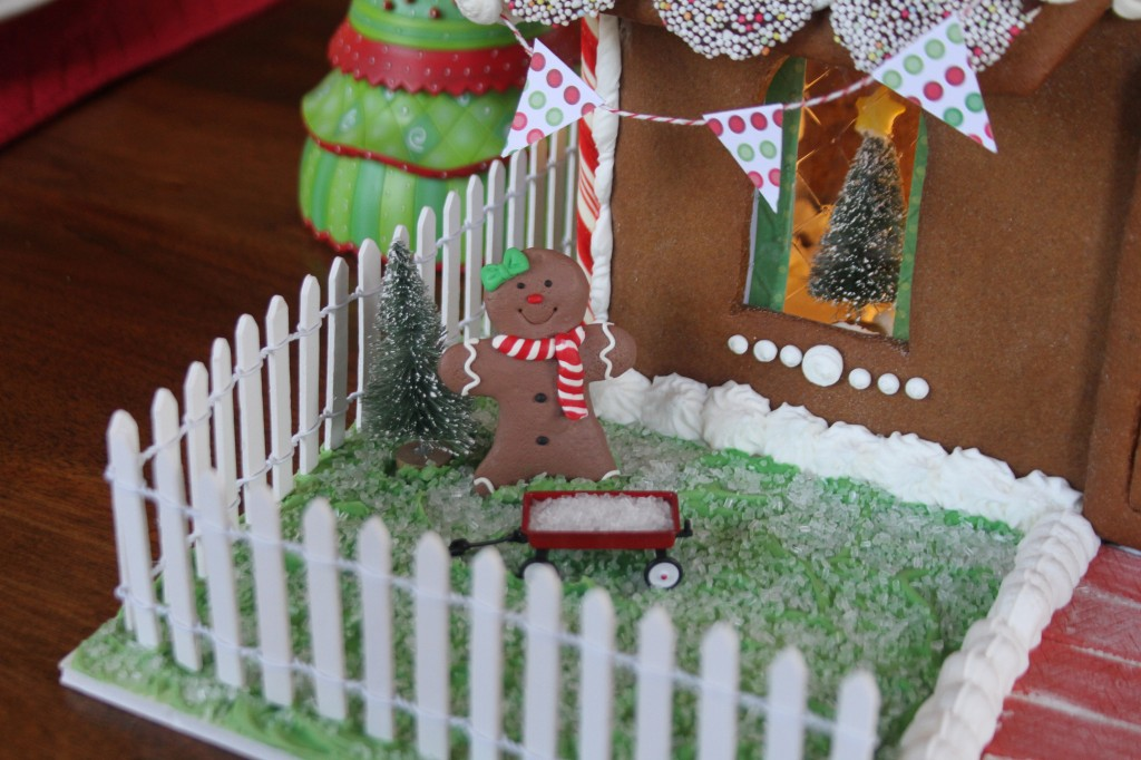 Gingerbread Man with Red Wagon