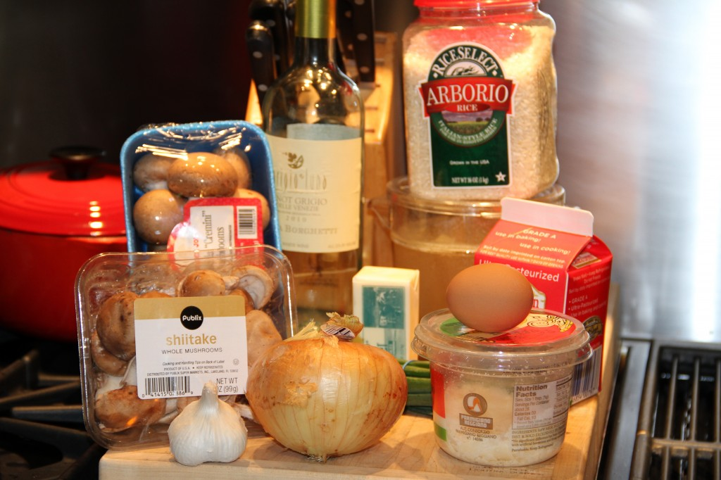 Ingredients for Creamy Mushroom Risotto