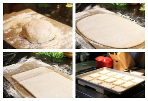 Roll Steps ~ dough ~ rolling out ~ cutting ~ rising rolls