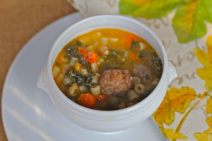 Kale, Navy Beans and Sausage Soup