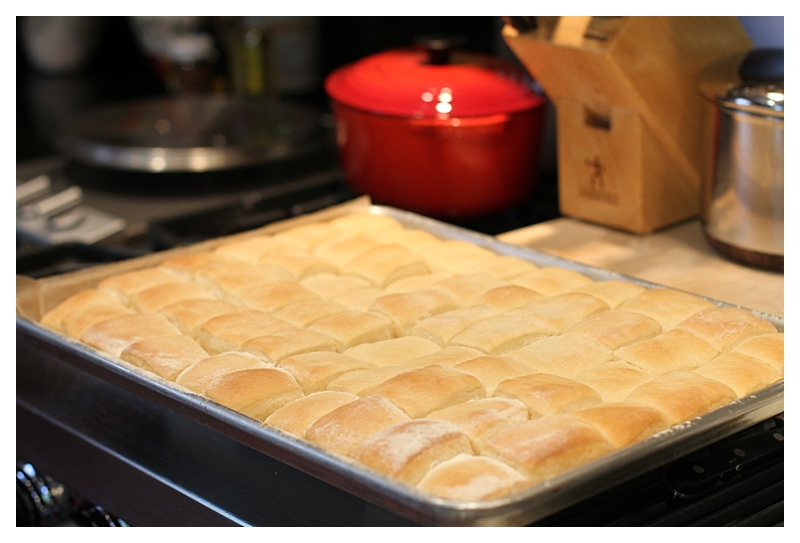 Whole pan of yeast rolls