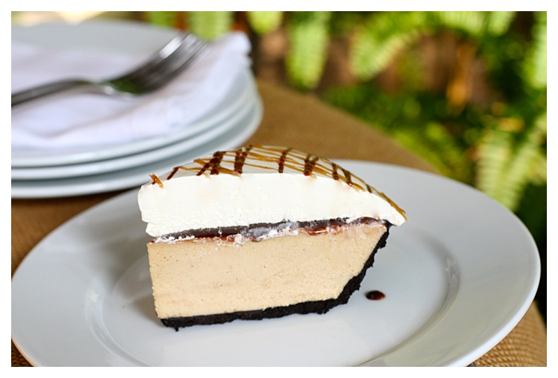 a slice of Angie's Peanut Butter Pie