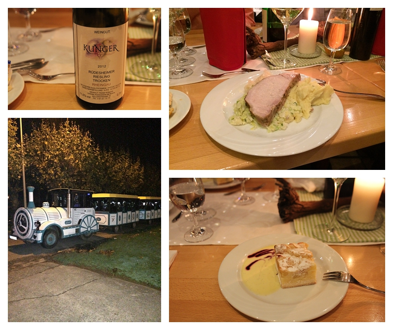 Angie's Rhine River Cruises ~ Dinner at Rudesheimer Schloss