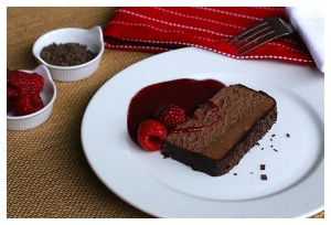 Chocolate Pate with Raspberry Sauce