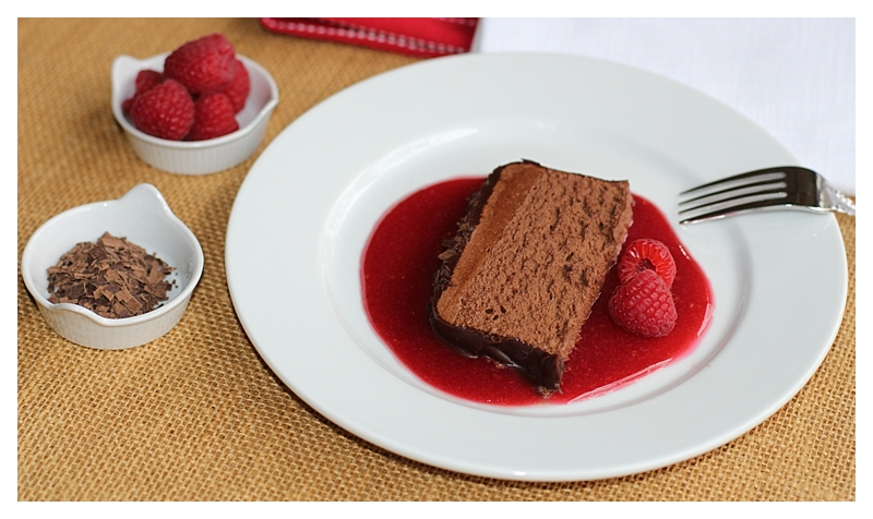 Angie's Chocolate Pate with Raspberry Sauce