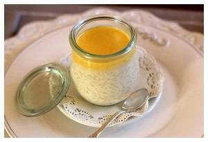 Vanilla Rice Pudding with Passion Curd