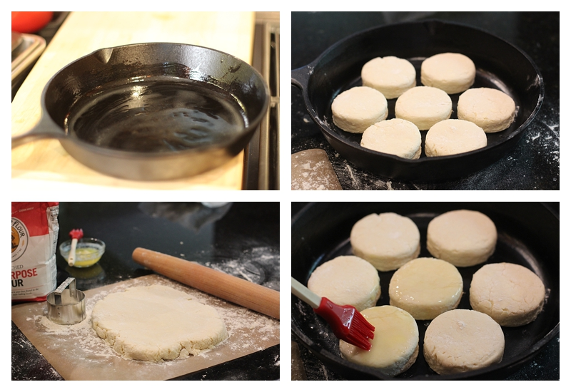 Steps for making Butter Milk Biscuits