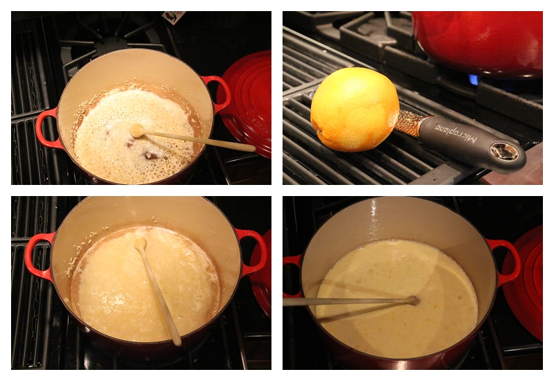 steps for making egg nog rice pudding